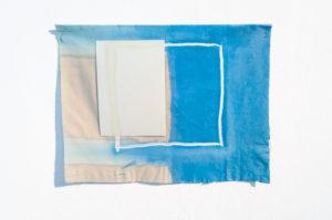 ohne Titel 2017 · Tusche, Oelfarbe, Bleiche, Papier · ca. 30 x 45 cm